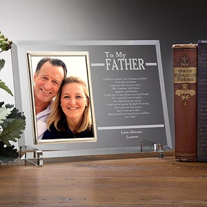 engraved picture frames for fathers to my dad 12769