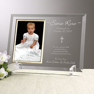 Engraved Christening Picture Frames - Christened With Faith - 12777