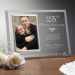 engraved anniversary picture frames years together 12778