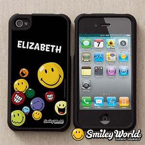 Personalized Smile Face iPhone 4 Cell Phone Case - 12783