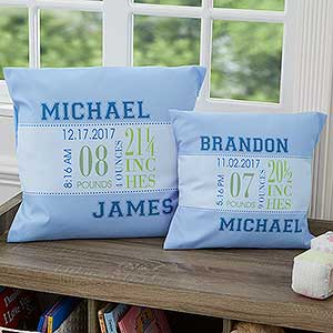 Personalized Baby Birth Pillows for Boys - 12787