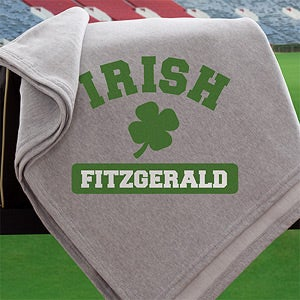 Personalized Irish Pride Shamrock Blanket - 12808