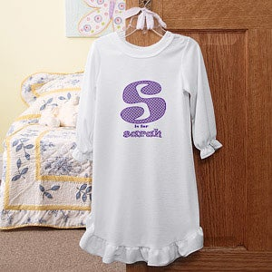 Personalization Mall Personalized Kids Nightgown - Alphabet Name Design at Sears.com