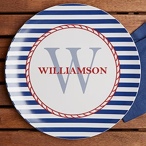 Personalized Melamine Plate  sc 1 st  Personalization Mall & Personalized Melamine Plates - Nautical - For The Home