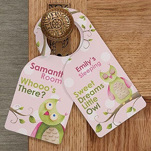 Personalized Girl's Bedroom Door Hanger - Owl About You - 12836