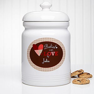 Personalized Cookie Jars - Baked With Love - 12867