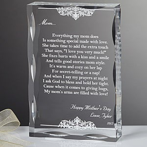 Wedding Gift For Dear Friend : Personalized Keepsake Gifts for MothersDear Mom PoemLadies Gifts
