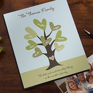 Personalized Family Photo Albums - Leaves of Love - 12872