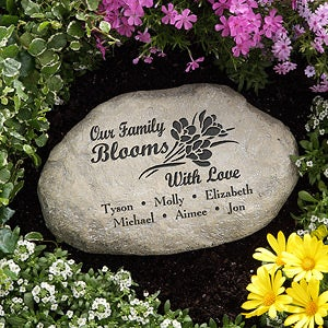 Personalized Garden Stones - Our Family Blooms With Love - 12873