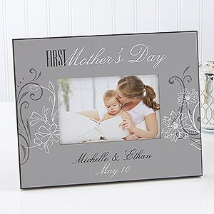 Her First Mother's Day Personalized Photo Frame