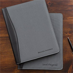 Business Professional Personalized Portfolios - Grey & Black - 12877