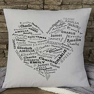 Personalized Keepsake Throw Pillows - Her Heart Of Love - 12878
