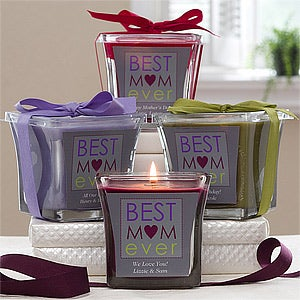 Best Mom Ever Personalized Scented Glass Candle