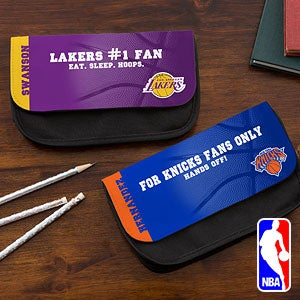 Personalized NBA Basketball Pencil Case - 12896