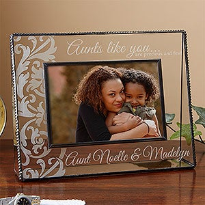 personalized aunt picture frames aunts like you engrave glass frame 12910