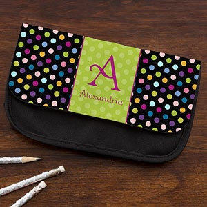 Personalized Pencil Cases for Kids - Polka Dots - 12915