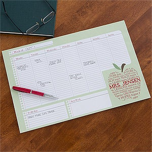 Personalized Teacher's Weekly Desk Calendar - 12928