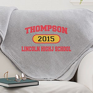 School Pride Personalized Sweatshirt Blankets - 12940