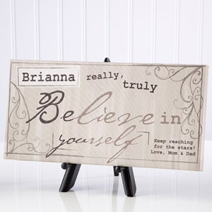 Personalized Canvas Art - Believe In Yourself - 12944