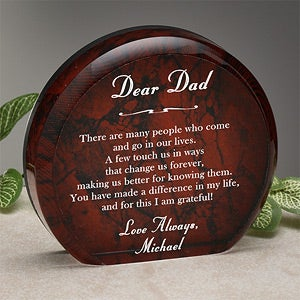 Personalized Mens Sienna Sculpture - Nobody Like You - 1295