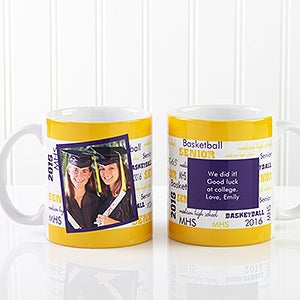 Personalized School Spirit Photo Graduation Coffee Mugs - 12958