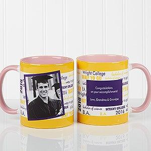 Personalized School Spirit Photo Graduation Coffee Mugs - 12958