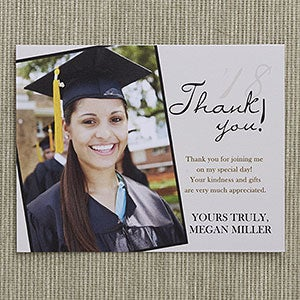 personalized graduation thank you cards refined graduate 12963 - Graduation Thank You Cards