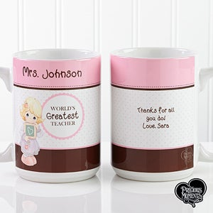 Personalized Teacher Coffee Mugs - Precious Moments - 12965