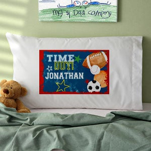 Personalized Boys Sports Pillowcase - 12996