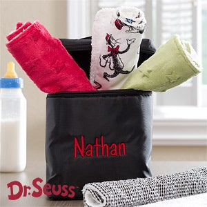 Personalization Mall Personalized Baby Bottle Bag with Dr Seuss Cat In The Hat Burp Cloth Set at Sears.com