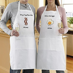 Personalized Aprons for Couples - We Go Together - 13014