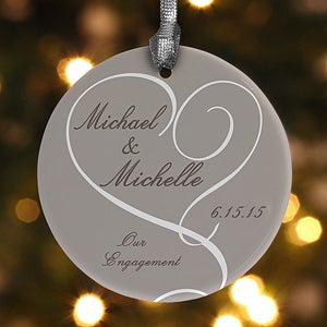 Personalized Engagement Christmas Ornaments - Wedding Gifts