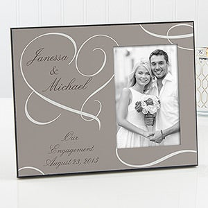 Personalized Wedding Gift Photo Frames : Our Engagement Personalized Photo Frame - On Sale Today!