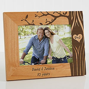 Personalized Romantic Picture Frames - Carved In Love - 13026