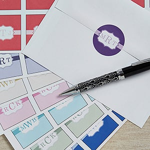 Personalized Wedding Envelope Seals - Monogram - 13028