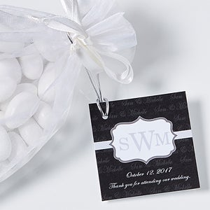 Personalized Wedding Gift Tags - Wedding Monogram - 13030