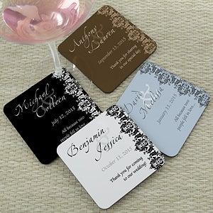 Personalized wedding favor coasters wedding couple wedding gifts