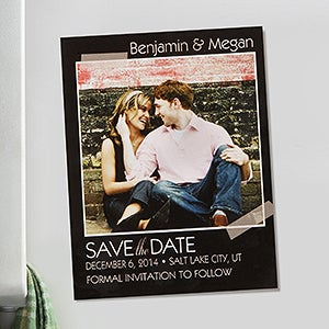 Personalized Wedding Save The Date Photo Cards & Magnets - Tying The Knot - 13043