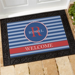 Personalized Nautical Doormats - Anchors Aweigh - 13048