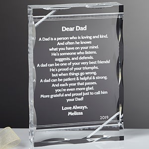 Personalized Poem Keepsake Gifts for Dad - 13060