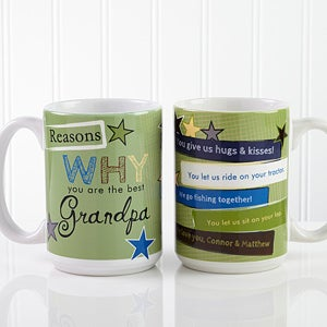 Personalized Coffee Mugs for Men - Reasons You're The Best - 13061