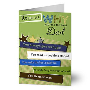 Personalized Greeting Cards - Reasons You're The Best - 13062