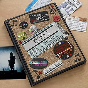 My Concerts Personalized Ticket Album