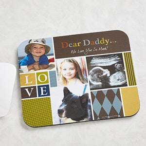 Personalized Photo Mouse Pads for Dad - 13077