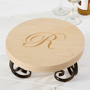 "Personalized Maple Leaf 12"" Round Server - 13078D"