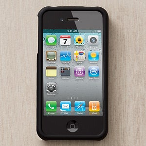 Personalized iPhone 4 Black Cell Phone Case - 13096