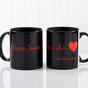 Heart Of Caring Personalized Coffee Mugs For Doctors