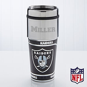 NFL Football Personalized Travel Mugs - Oakland Raiders - 13128