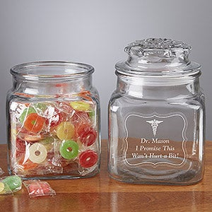 Personalized Treat Jars - Doctor's Office - 13139