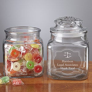 Personalized Treat Jars - Law Office - 13140